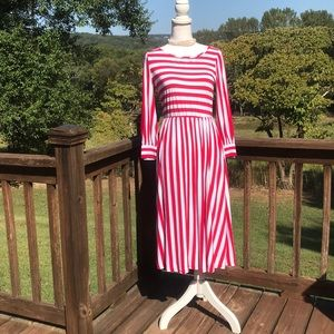 Red striped Dainty Jewells dress